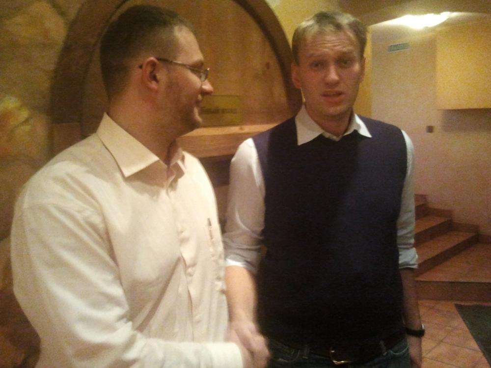 Ярослав с Ширшиков с Алексеем Навальным, 29.11.11. Фото: vk.com/shirshikoff