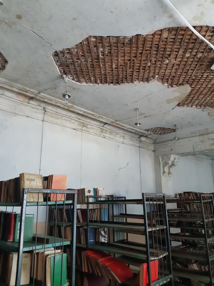 Помещение библиотеки Дома офицеров Оренбургского дома офицеров