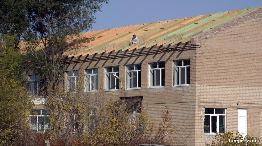 Бердянская школа Оренбурга без крыши