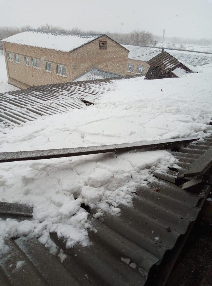 Обрушение крыши школы в Оренбуржье, фото: ural56.ru